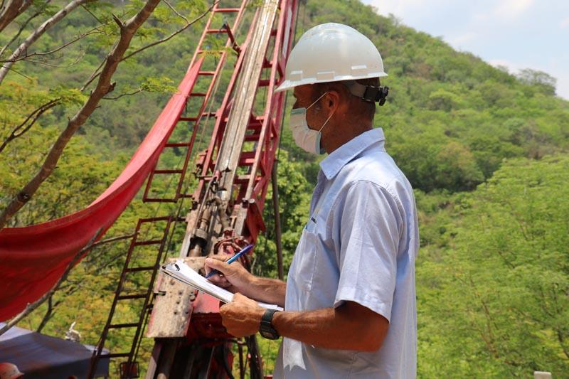 Drilling campaign in La India vein