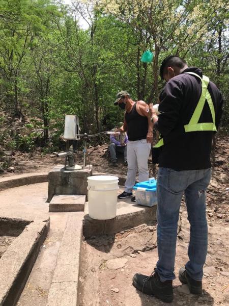 Water sampling in La India project -Nance Dulce village